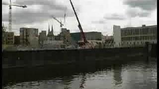 """Baustellenvideo: Die """"Temporäre Kunsthalle"""" auf dem Berliner Schlossplatz wird aufgebaut"""