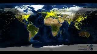 Blick aus dem Weltall: Der globale Luftverkehr im Zeitraffer