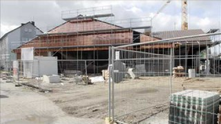 Baustelle Supermarkt: Der Aldi-Markt in Herten (NRW)