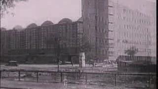 Die Frankfurter Großmarkthalle im Bau (Architekt: Martin Elsässer, 1928)