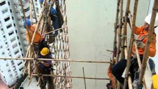 Atemberaubend flexibel: Bambus-Gerüstbau in Hong Kong