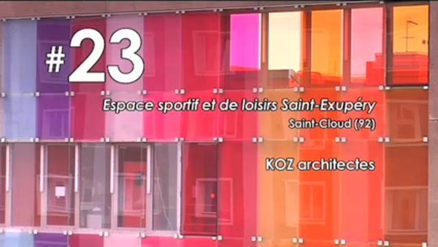 Das Sport- und Freizeitzentrum in Saint-Cloud (Großraum Paris) von KOZ Architectes