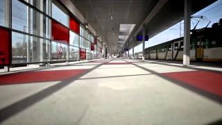 "Die umgebaute S-Bahnstation ""Warzawa Stadion"""