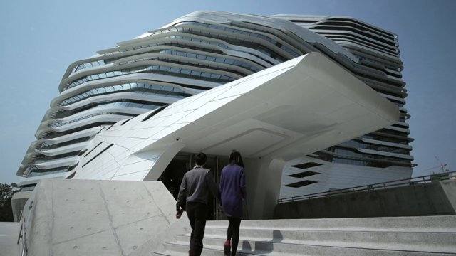 Der Jockey Club Innovation Tower in Hong Kong von Zaha Hadid Architects