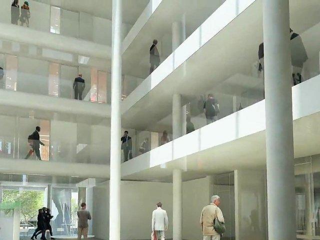 Zeitraffer: Der Bau der Cité Municipale in Bordeaux (Architekten: Paul Andreu / Richez Associés)
