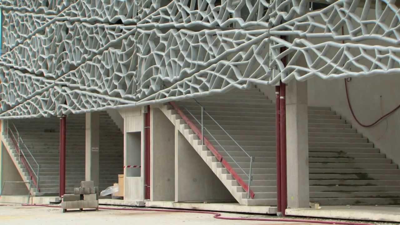 Harte Männer hinter filigraner Beton-Fassade: Umbau des Stade Jean Bouin von Rudy Ricciotti in Paris