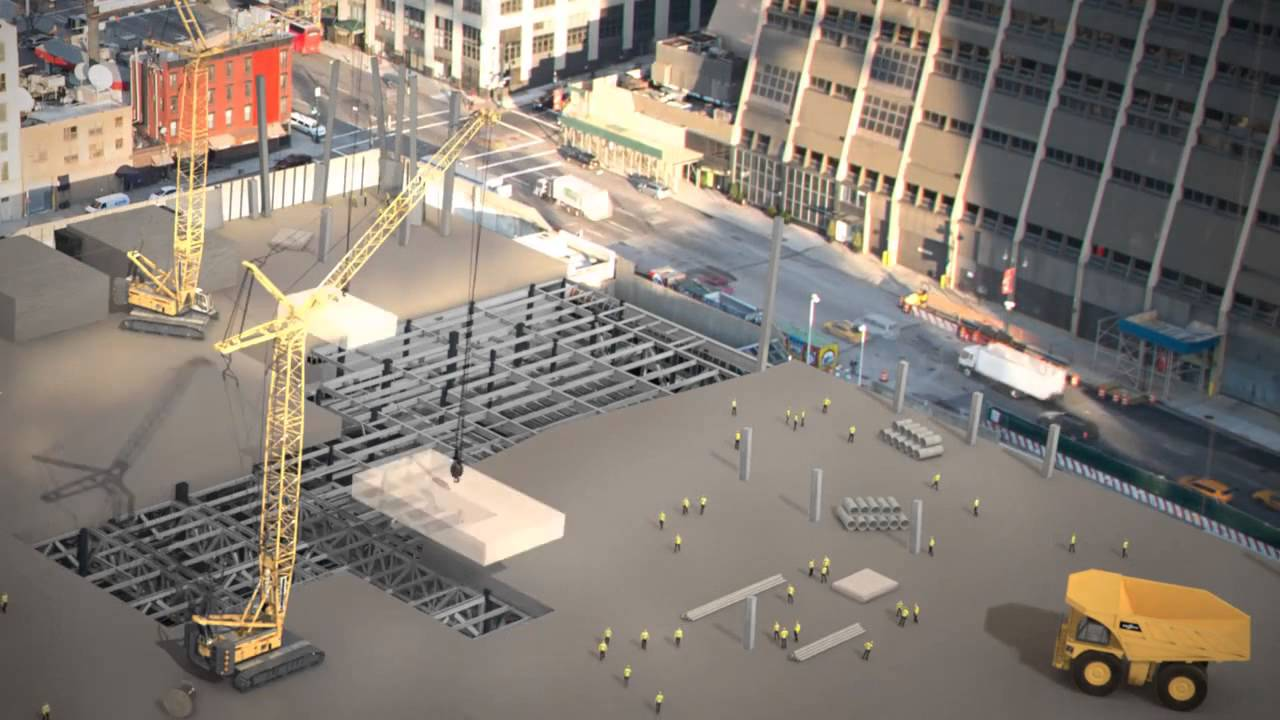 Hochhausbau über Bahngleisen: Hudson Yards in New York