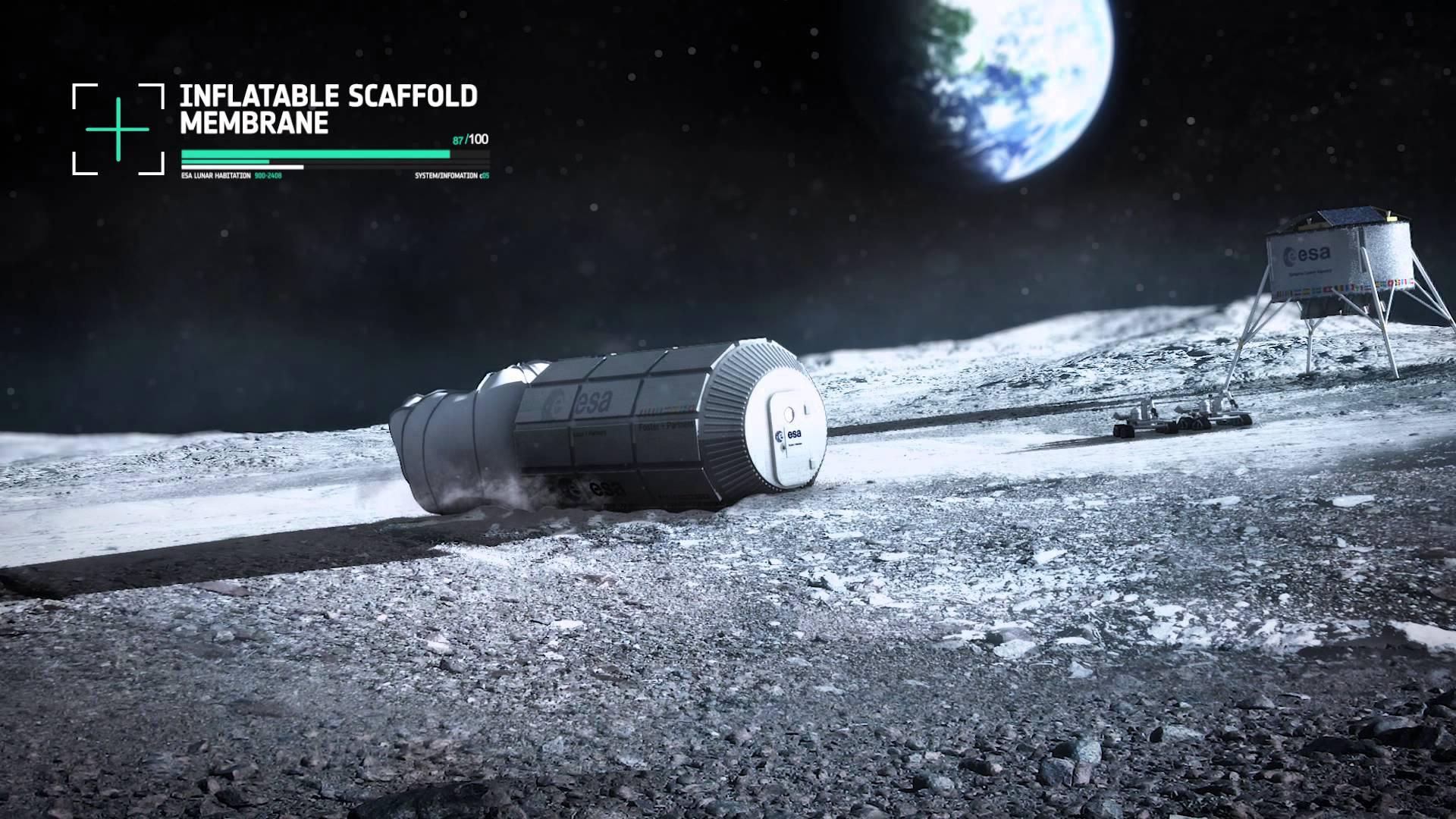 Die Mondbasis aus dem 3D-Drucker von Foster + Partners