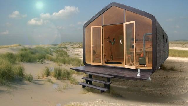 wikkelhouse das holl ndische modulbau haus aus wellpappe. Black Bedroom Furniture Sets. Home Design Ideas