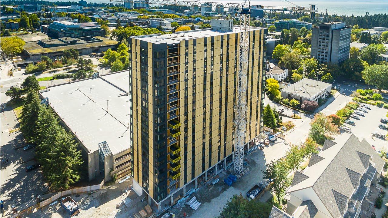 Vancouver, Kanada: Das weltweit höchste Holz-Hybrid-Gebäude entsteht (Zeitraffer)