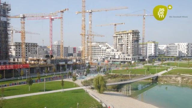 """aspern – der Bau der """"Seestadt Wiens"""" im Zeitraffer"""