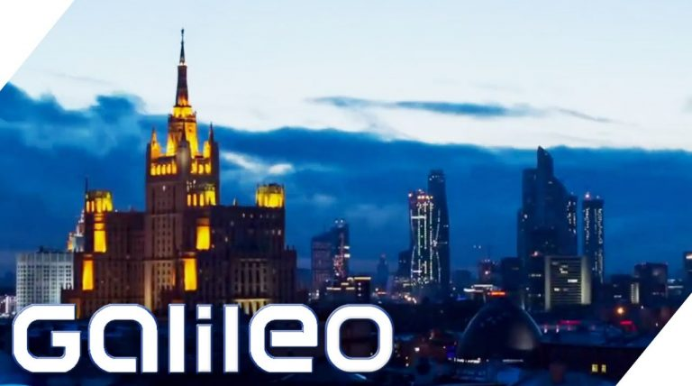 Galileo-Reportage: Baustellen, Luxuswohnen und Armut in Moskau