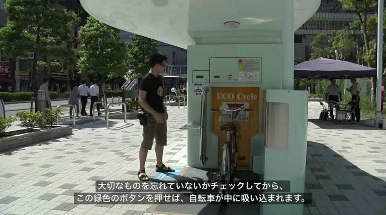 Das erdbebensichere Untergrund-Parkhaus – für Fahrräder!