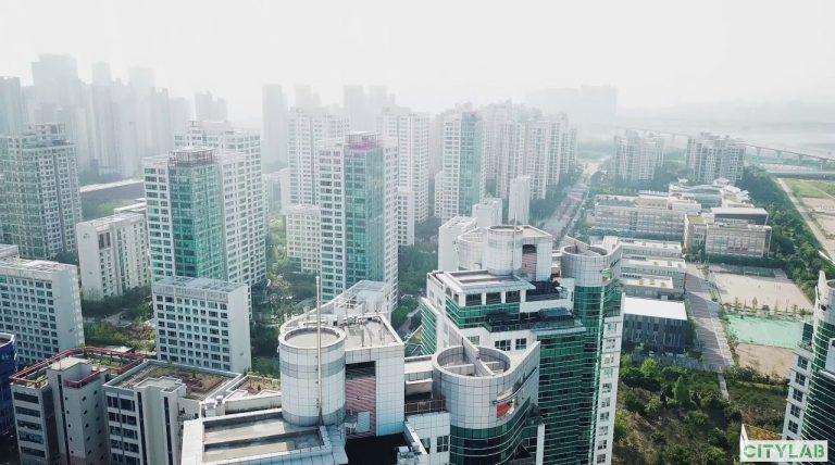 Songdo City, eine Planstadt in Südkorea
