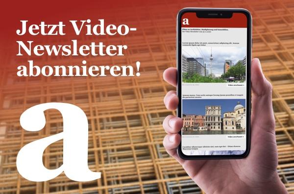 Jetzt den architekturvideo-Newsletter abonnieren!